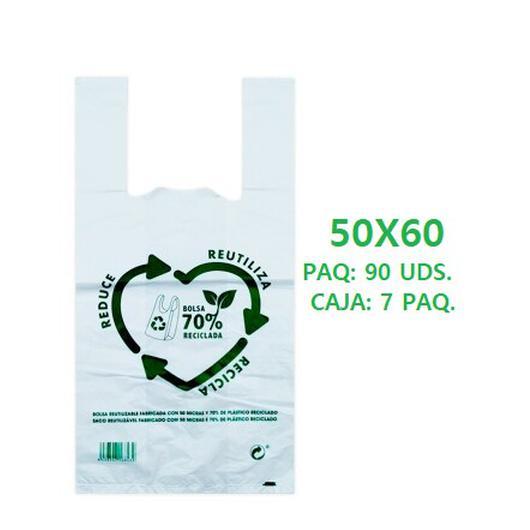 BOLSA ASA 50X60 70% RECICLADA 90UDS.  010105.1