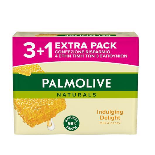 JABON PALMOLIVE PACK 3U+1  90 GR. LECHE Y MIEL