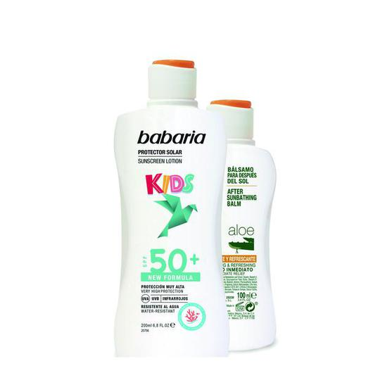 98074 BABARIA LECHE SOLAR F50+ 200ML  + AFTERSUN