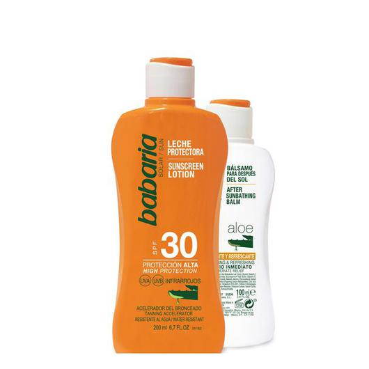 98090 BABARIA LECHE SOLAR F30 ALOE 200 ML + AFTERSUN