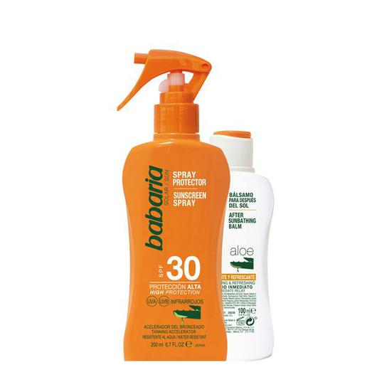 98232 SPRAY PROTECTOR F30 ALOE 200 ML + AFTERSUN BABARIA