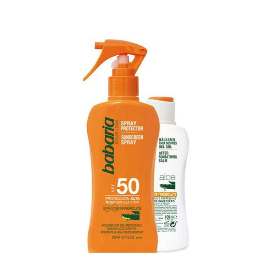 98091 BABARIA SPRAY SOLAR F50 ALOE 200 ML + AFTERSUN
