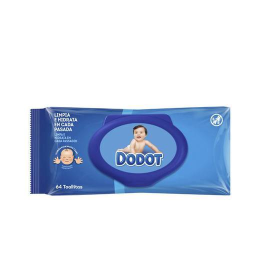 TOALLITA INFANTIL DODOT 64U C/TAPA DERMO ACTIVE