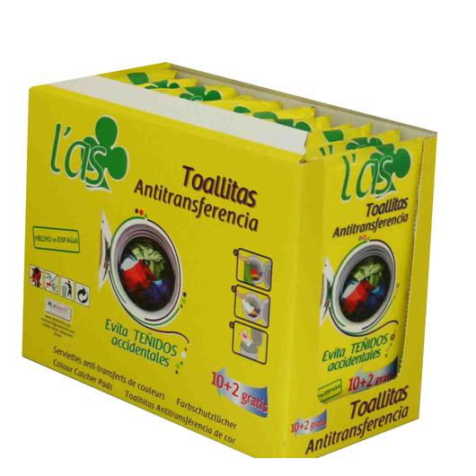 TOALLITAS ANTI TRANSFERENCIA 10+2 L`AS 674335