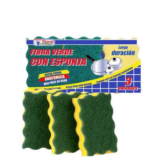 FIBRA C/ESPONJA 3U K40010