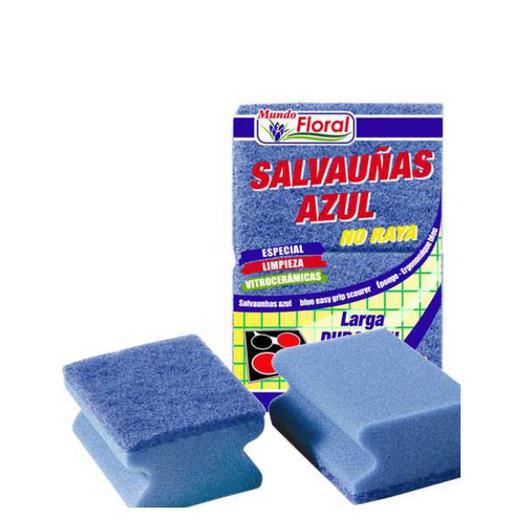 ESTROPAJO SALVAUÑAS 2U AZUL K40006