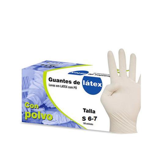 GUANTE LATEX 100U 6/7 PEQUEÑO