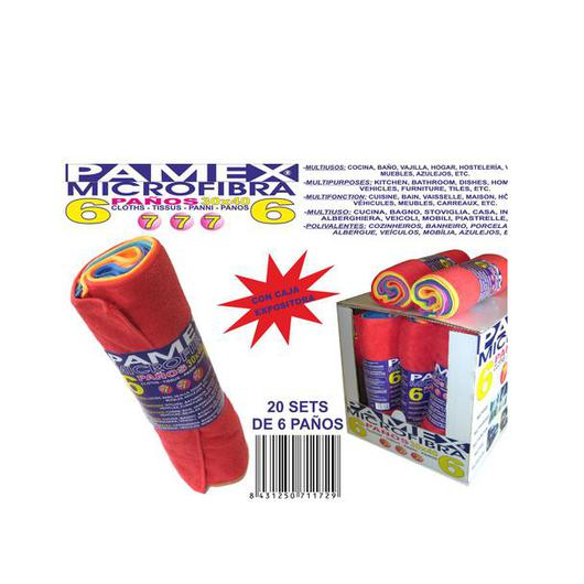 BAYETA MICROFIBRA PACK 6 U 30X40 PAMEX