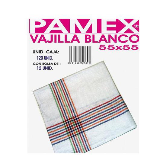 PAÑO VAJILLA BLANCO 55X55