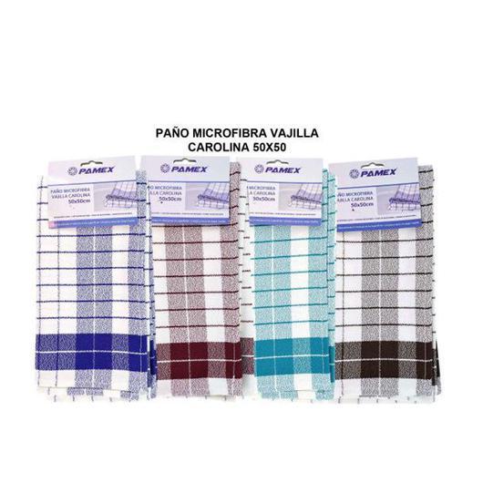 PAÑO MICROFIBRA VAJILLA CAROLINA 50X50 70079