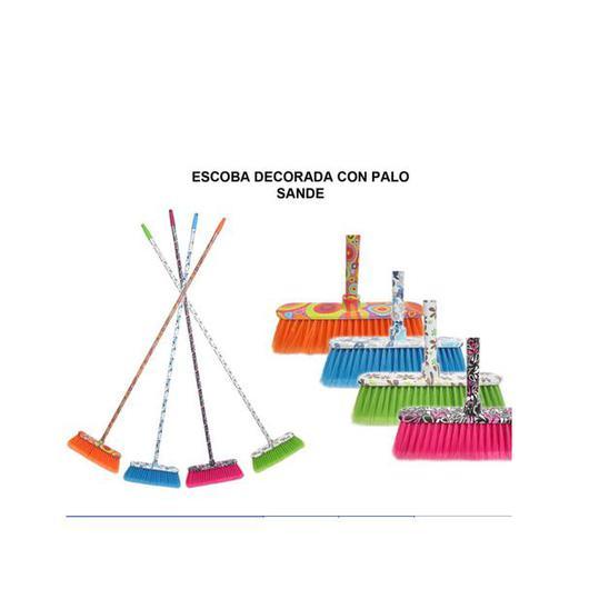 ESCOBA CON PALO DECORADA SANDE 1,40