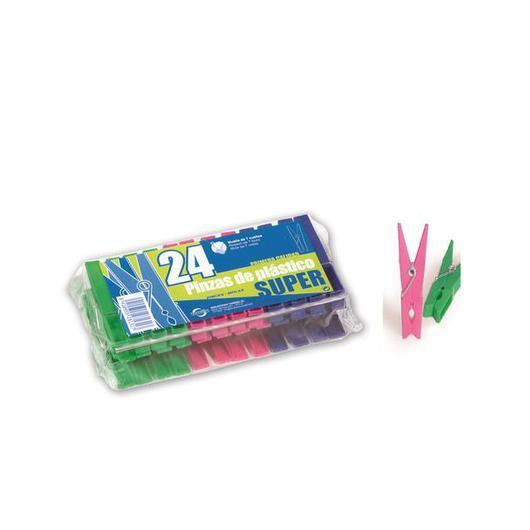 PINZA ROPA PLASTICO SUPER 24U 28131