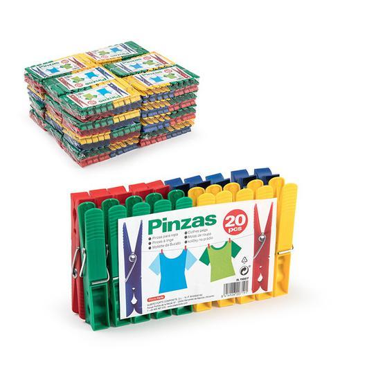 PINZA  ROPA PLASTICO 20UDS. 11867