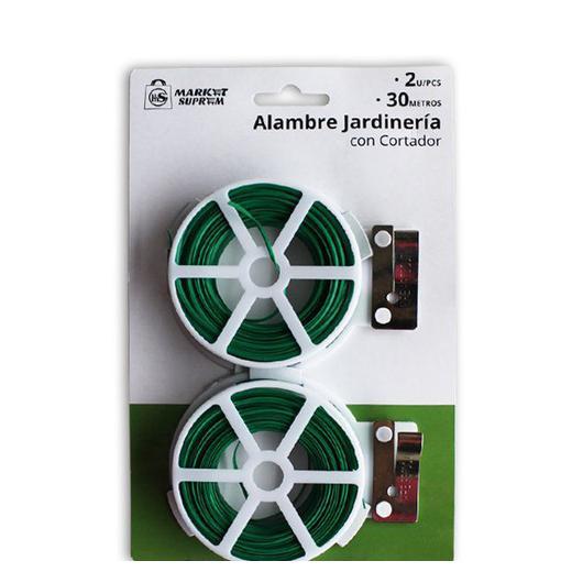 ALAMBRE TORCEDOR CORTADOR JARDIN 2UDS 60M 28574