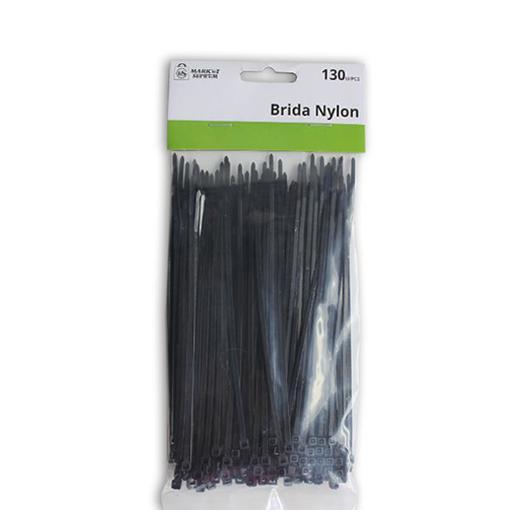 BRIDAS NYLON NEGRAS 1X150MM 130UDS. A6785