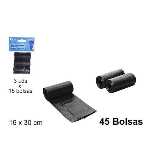 BOLSA PERRO 45 U. NEGRAS 101505