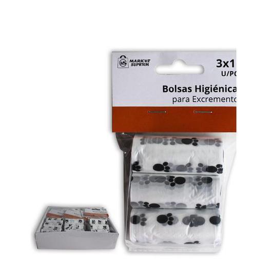 BOLSA PERRO 3 ROLLOS 15 U. HUELLAS 28817
