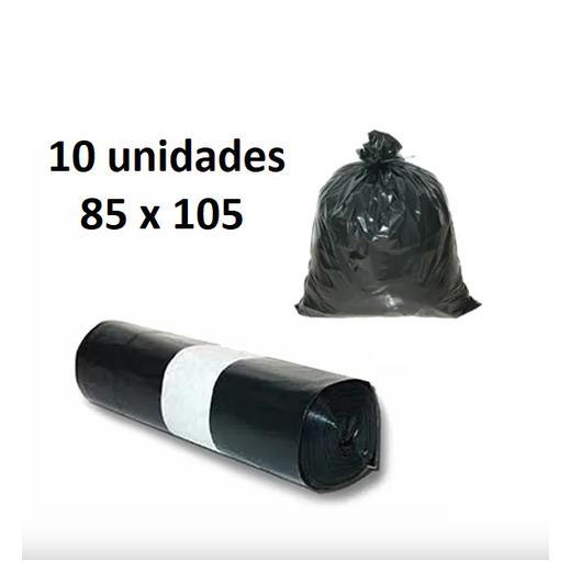 BOLSA BASURA 10U COMUNIDAD NEGRA 85x105