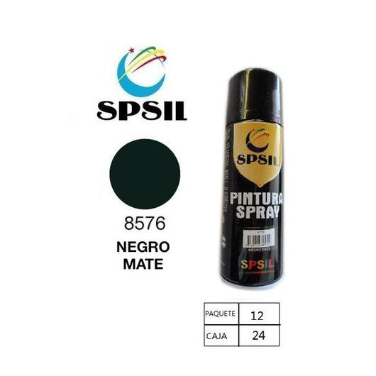 PINTURA SPRAY 400 ML SPSIL NEGRO MATE 8576