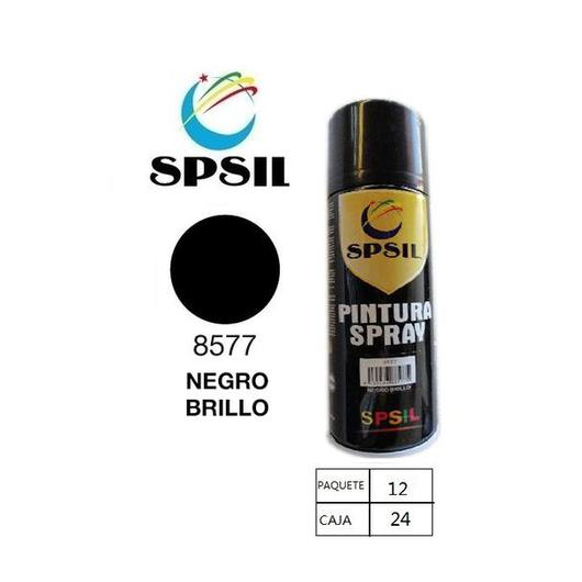 PINTURA SPRAY 400 ML SPSIL NEGRO BRILLO 8577