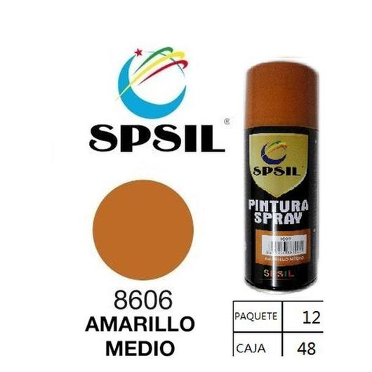 PINTURA SPRAY 200 ML SPSIL AMARILLO MEDIO 8606
