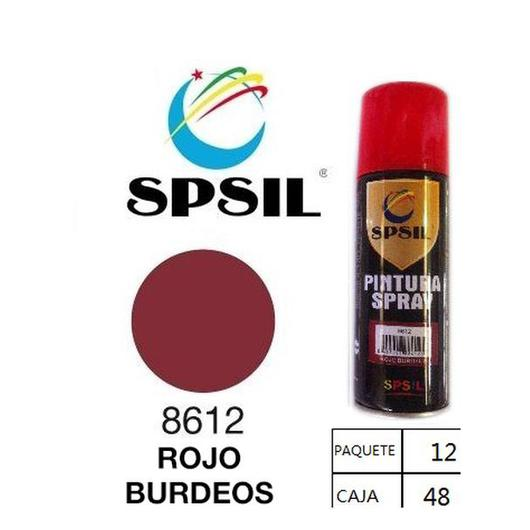 PINTURA SPRAY 200 ML SPSIL ROJO BURDEOS 8612