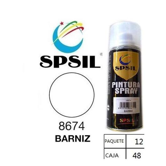PINTURA SPRAY 200 ML SPSIL BARNIZ 8674