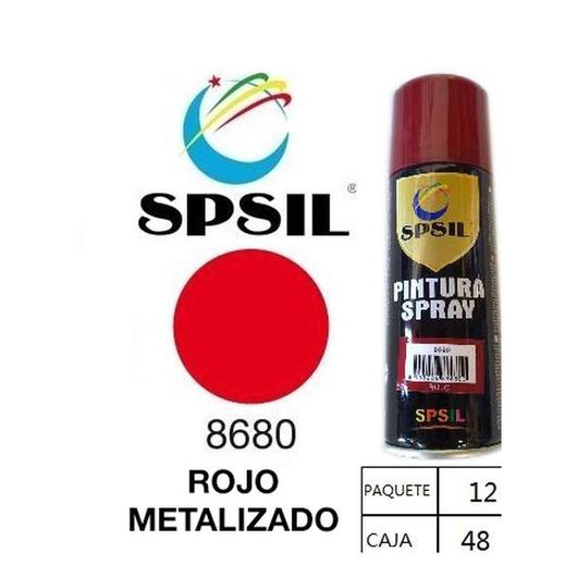 PINTURA SPRAY 200 ML SPSIL ROJO METALIZADO 8680