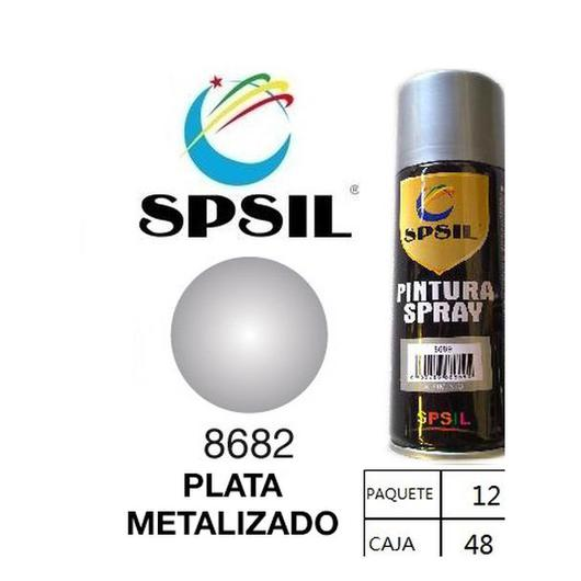 PINTURA SPRAY 200 ML SPSIL PLATA METALIZADO 8682