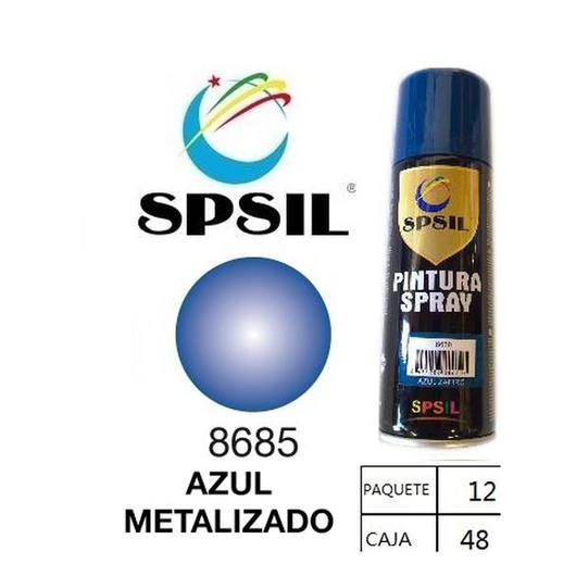 PINTURA SPRAY 200 ML SPSIL AZUL METALIZADO 8685