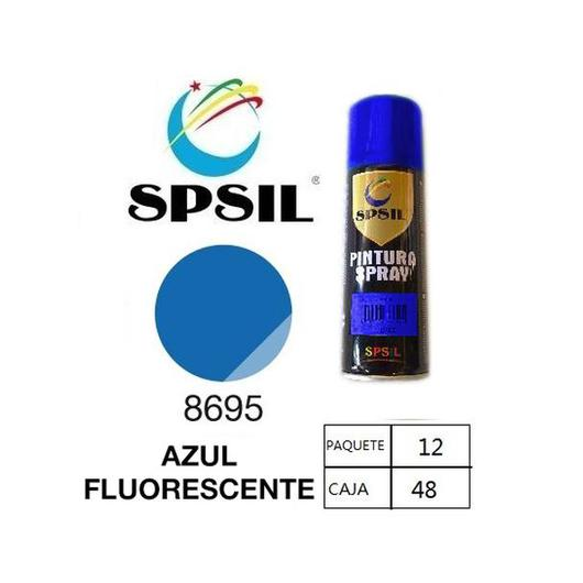 PINTURA SPRAY 200 ML SPSIL AZUL FLUORESCENTE 8695