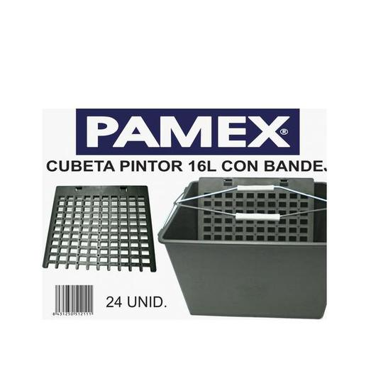 CUBETA PLASTICO C/REJILLA 16 LT 51211