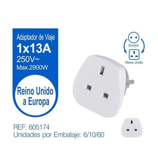 ADAPTADOR VIAJE EUROPA REINO UNIDO 605174