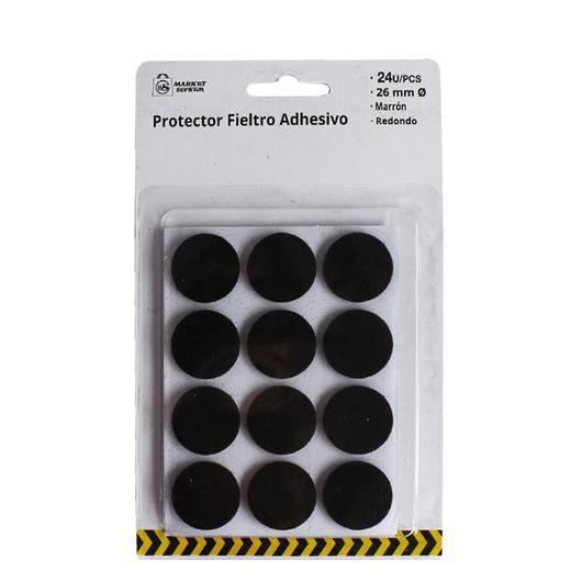 PROTECTOR ADHESIVO FIELTRO MARRON 26MM 24UDS. A7278