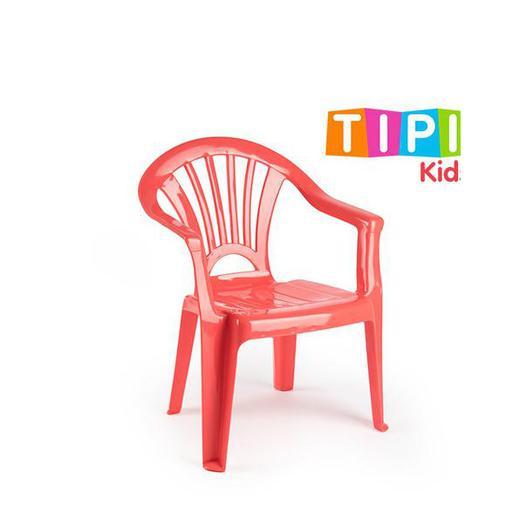 SILLA PLASTICO INFANTIL TIPI NARANJA CORAL TZ 12175T6