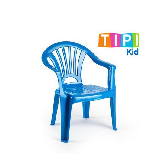 SILLA PLASTICO INFANTIL TIPI AZUL 12175.T7