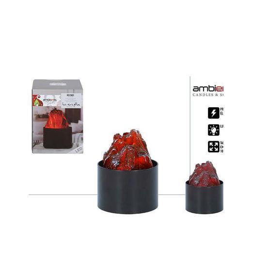 ESTUFA IMITACION CARBON LED  10x13,2 35973
