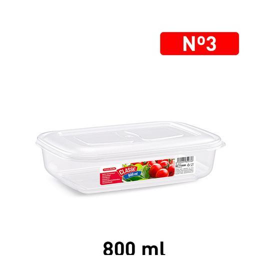 FIAMBRERA 800 ML RECTANGULAR TRANSPARENTE 1130306