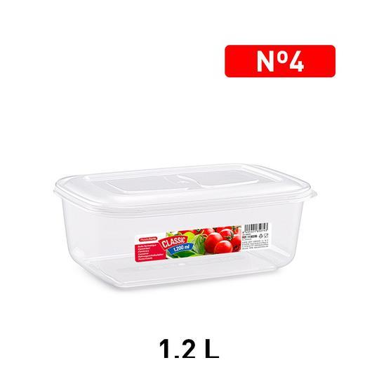 FIAMBRERA RECTANGULAR 1200 ML TRANSPARENTE 1130206