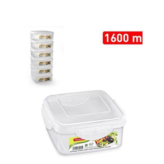 FIAMBRERA CUADRADA CLICK 1600 ML 11659