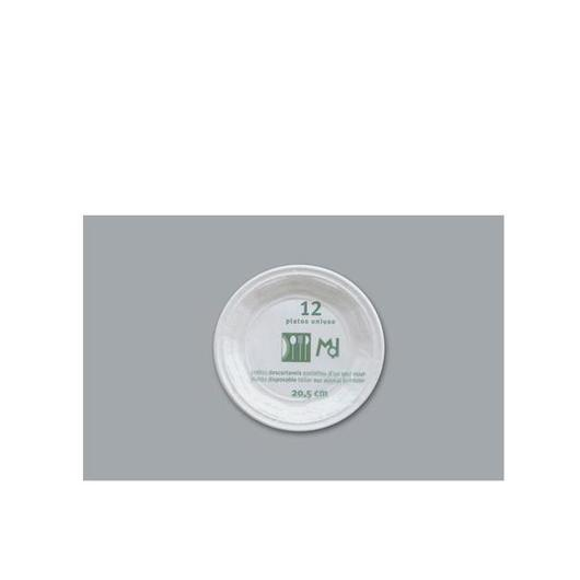 PLATO PLASTICO LLANO 20.5 CM 12 U (80505/80510)