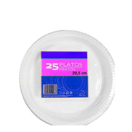 PLATO PLASTICO 20.5 CM LLANO (10204) 80507