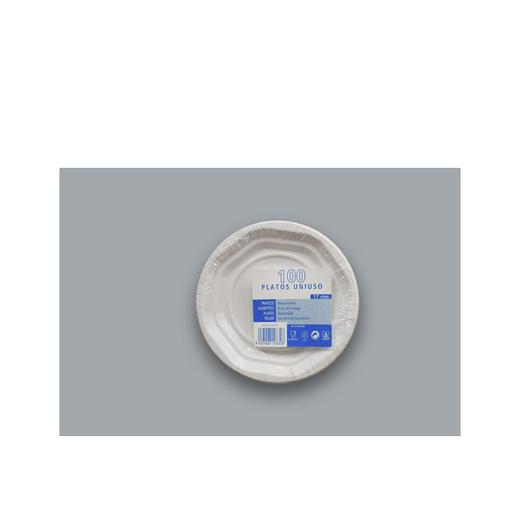 PLATO PLASTICO 17 CM B/100  80401/80402