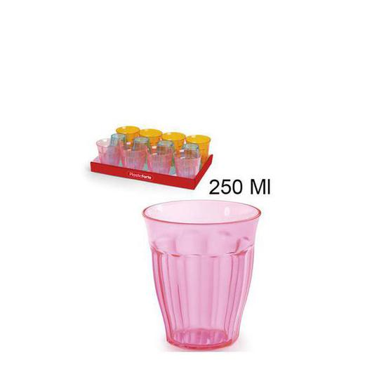 VASO AGUA 250ML PS 11385