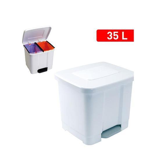 CUBO PEDAL 35 LT DOBLE BLANCO 11265.01