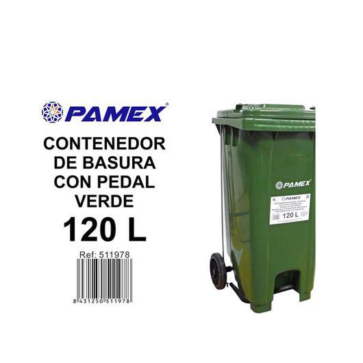 CONTENEDOR PAMEX 120L. C/PED. VERDE