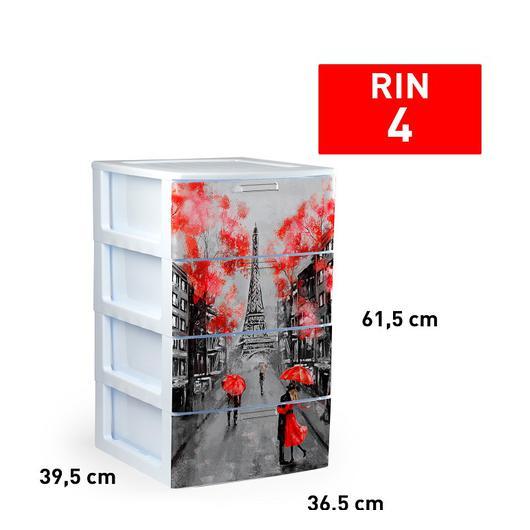 CAJONERA RIN 4 CAJON BLANCO DECO31 11927.1L