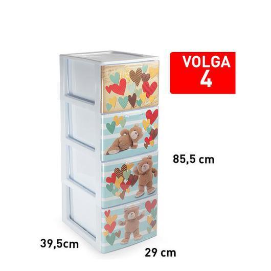 CAJONERA VOLGA 4 CAJON BLANCO DECO15 119336F