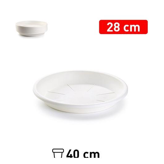 PLATO MACETA 28 CM BLANCO 1128001
