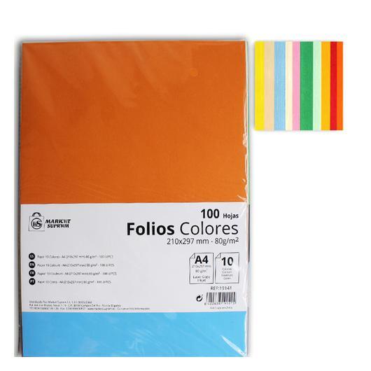 FOLIO 10 COLORES SURTIDOS 80GR 100 HOJAS 19141